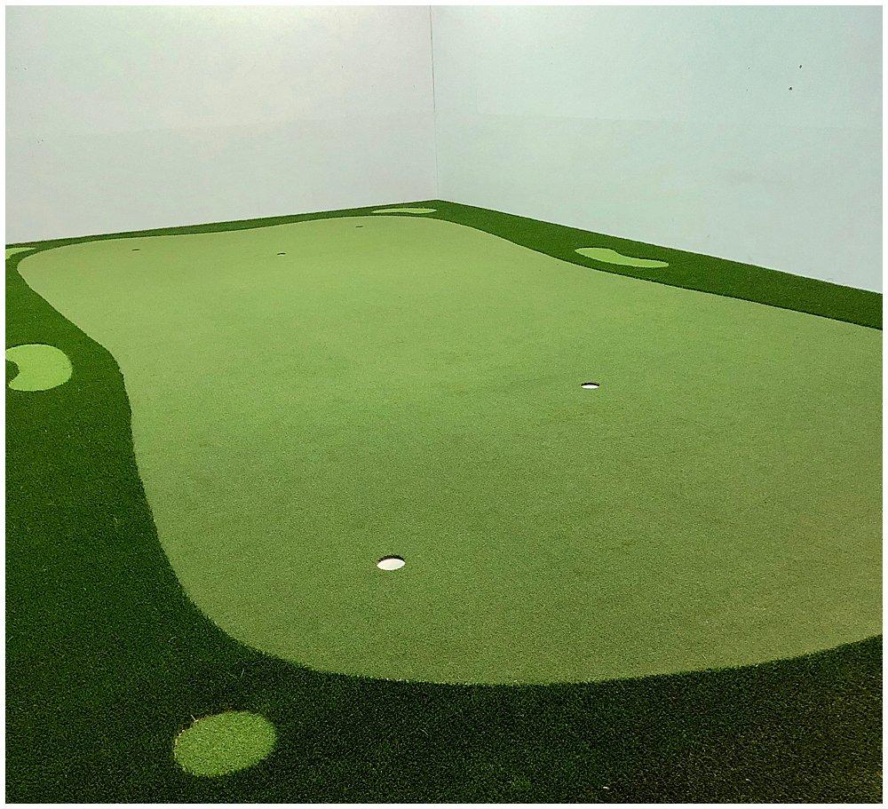 Saint Xavier University's Golf Practice Facility with artificial turf. Designed by PGA Golf Pro Brian Groszek.