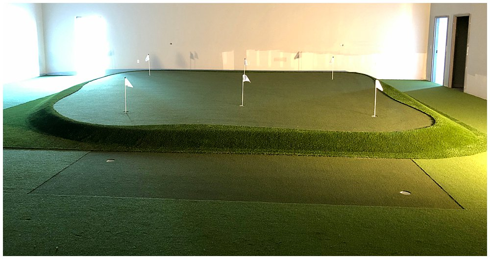 Western Kentucky University's Golf Practice Facility with artificial turf. Designed by PGA Golf Pro Brian Groszek.